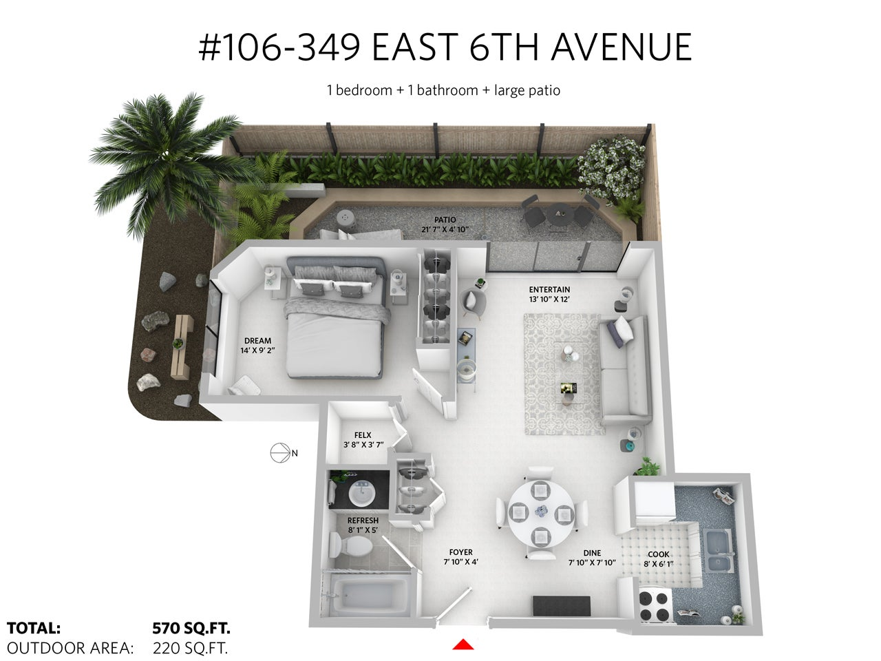 106 349 E 6TH AVENUE - Mount Pleasant VE Apartment/Condo for sale, 1 Bedroom (R2196401) #19
