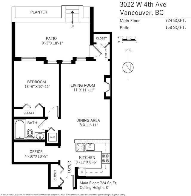 3022 W 4TH AVENUE - Kitsilano Townhouse for sale, 1 Bedroom (R2131982) #7