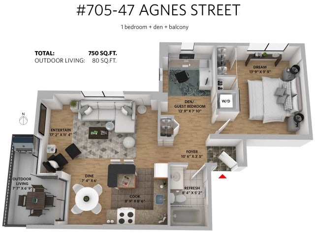 705 47 AGNES STREET - Downtown NW Apartment/Condo for sale, 1 Bedroom (R2205657) #20